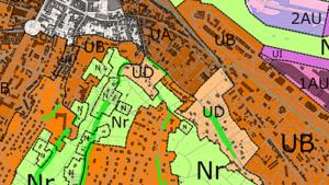 Carte du Plan Local d'Urbanisme intercommunal